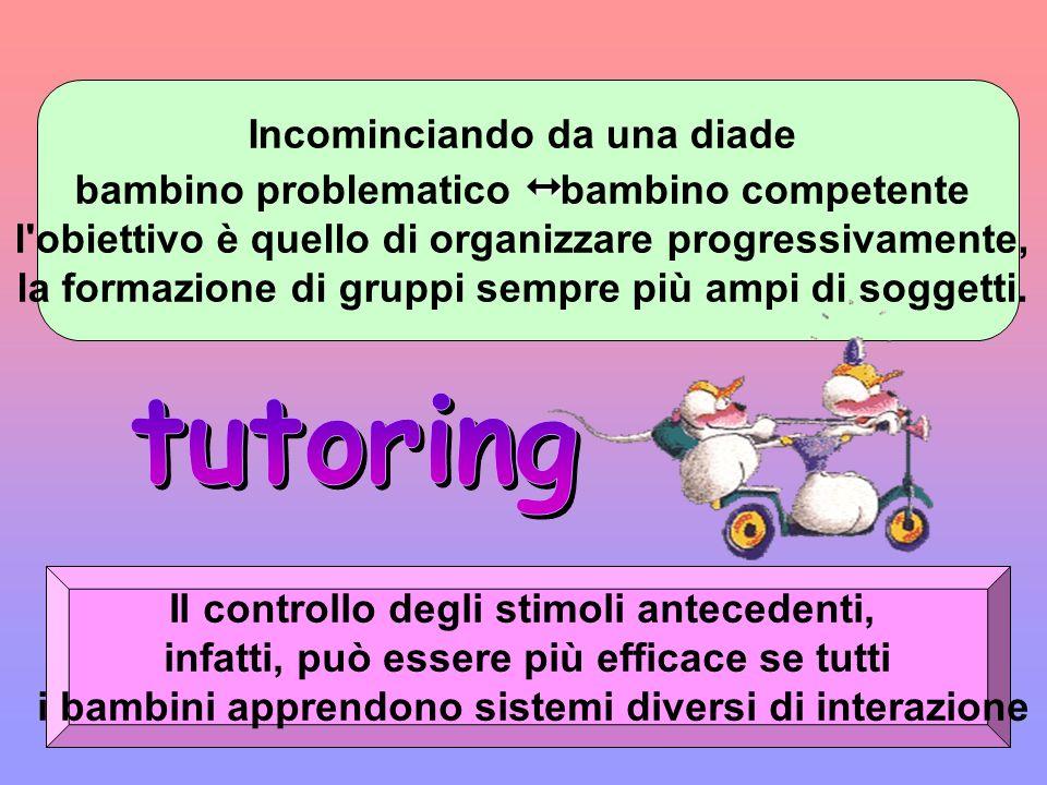 La procedura di tutoring si caratterizza per lattribuzione lattribuzione di una funzione educativa ad un soggetto nei riguardi di un altro. Essa impli
