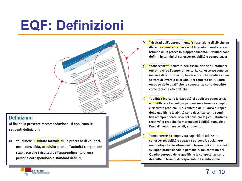8 di 10 EQF: Raccomandazioni