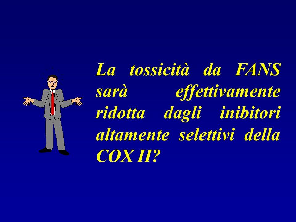 La tossicità da FANS sarà effettivamente ridotta dagli inibitori altamente selettivi della COX II?