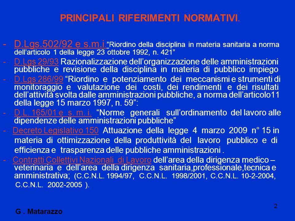 2 PRINCIPALI RIFERIMENTI NORMATIVI. -D.Lgs.502/92 e s.m.i.Riordino della disciplina in materia sanitaria a norma dellarticolo 1 della legge 23 ottobre