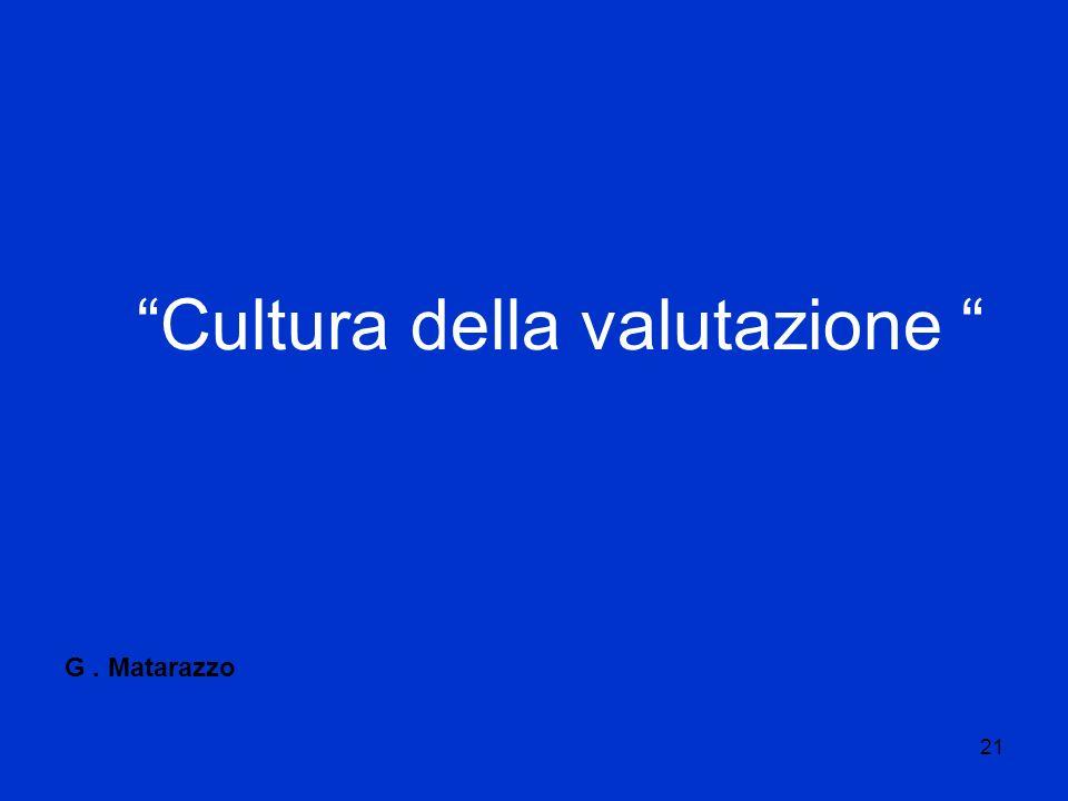 21 Cultura della valutazione G. Matarazzo