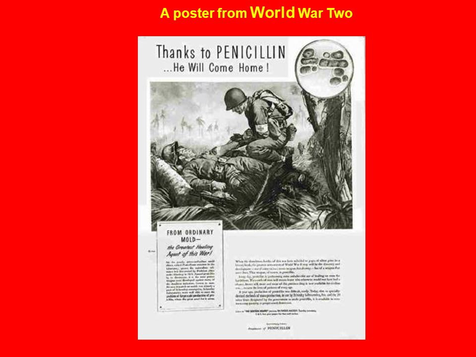 A poster from World War Two