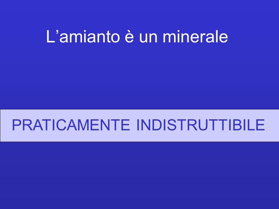 Lamianto è un minerale PRATICAMENTE INDISTRUTTIBILE