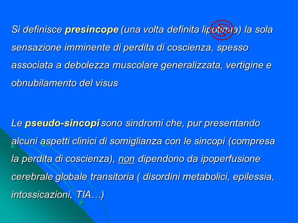 DIAGNOSI (III): ECG Ricerca alterazioni in atto o pregresse per la stratificazione del rischio prognostico Criteri diagnostici elettrocardiografici Ischemia miocardica Ischemia miocardica Bradicardia sinusale sintomatica <40 bpm Bradicardia sinusale sintomatica <40 bpm Blocchi senoatriali ripetitivi o pause sinusali >3 sec.