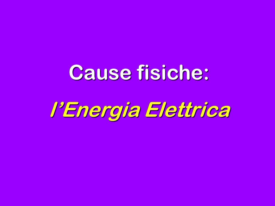 Cause fisiche: lEnergia Elettrica