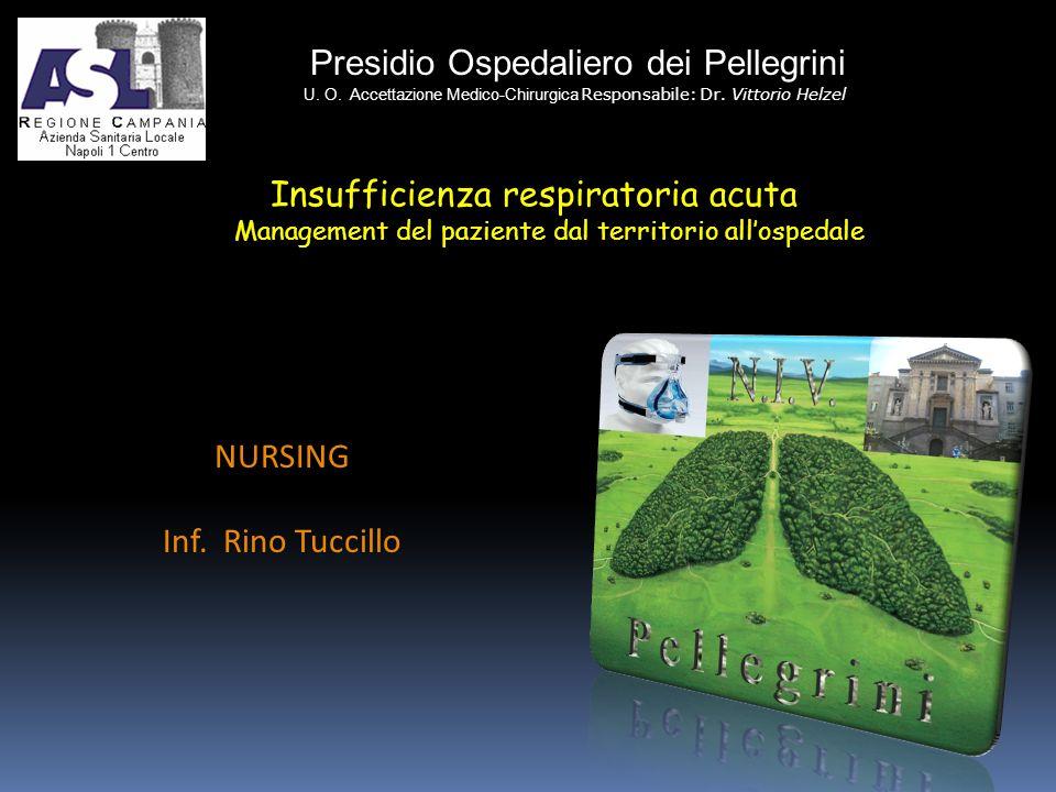Presidio Ospedaliero dei Pellegrini U. O. Accettazione Medico-Chirurgica Responsabile: Dr. Vittorio Helzel NURSING Inf. Rino Tuccillo Insufficienza re