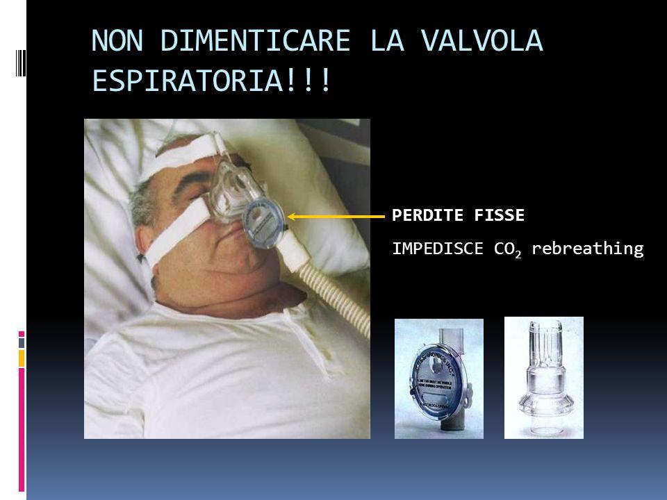 PERDITE FISSE IMPEDISCE CO 2 rebreathing NON DIMENTICARE LA VALVOLA ESPIRATORIA!!!