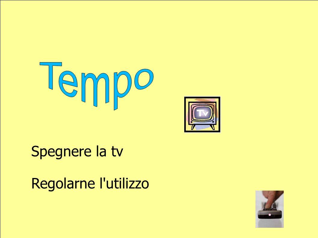 Spegnere la tv Regolarne l utilizzo