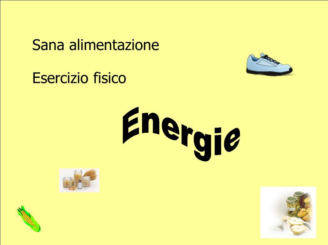 Sana alimentazione Esercizio fisico