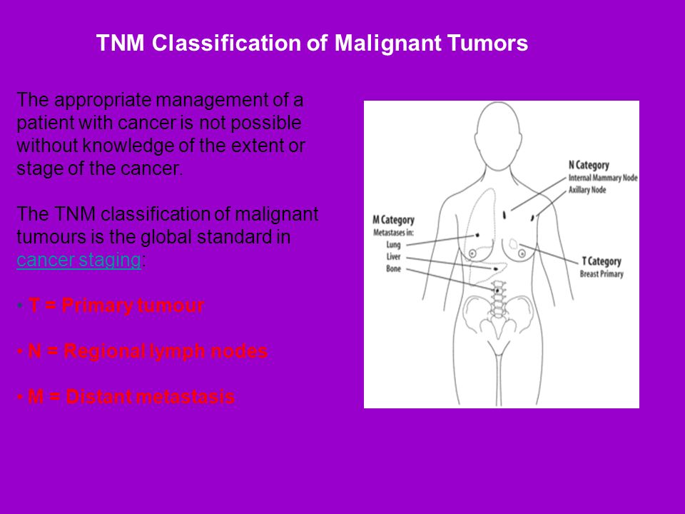 The appropriate management of a patient with cancer is not possible without knowledge of the extent or stage of the cancer. The TNM classification of