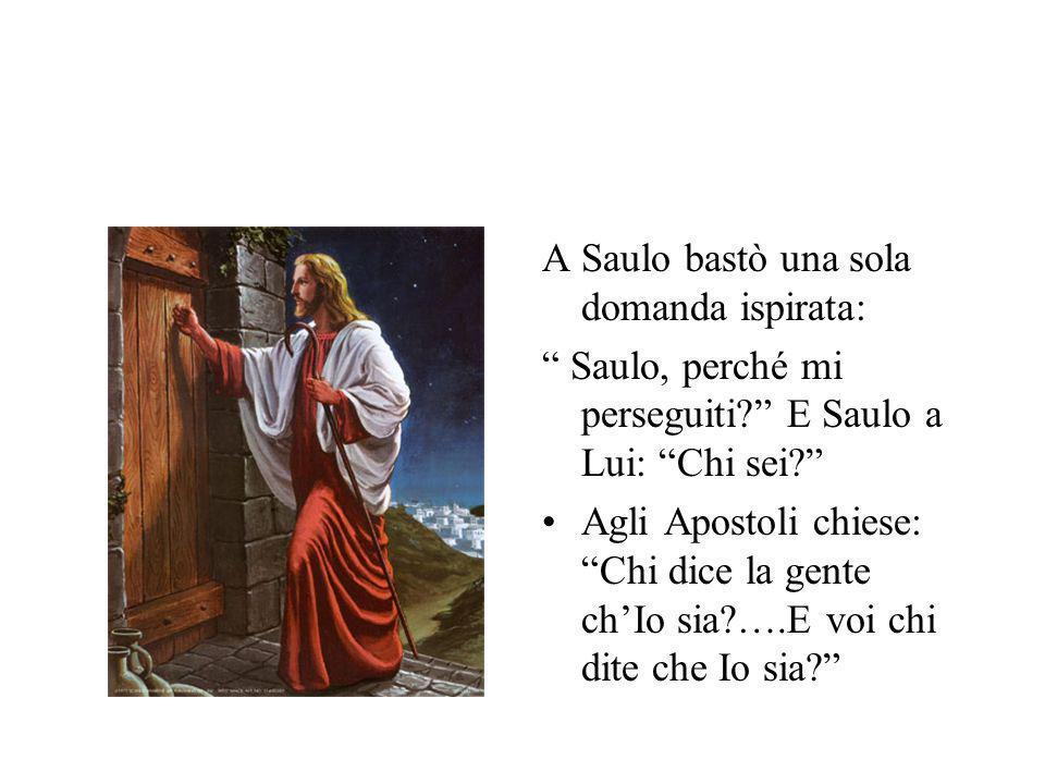A Saulo bastò una sola domanda ispirata: Saulo, perché mi perseguiti.