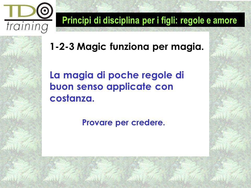 1-2-3 Magic funziona per magia. La magia di poche regole di buon senso applicate con costanza. Provare per credere. Principi di disciplina per i figli