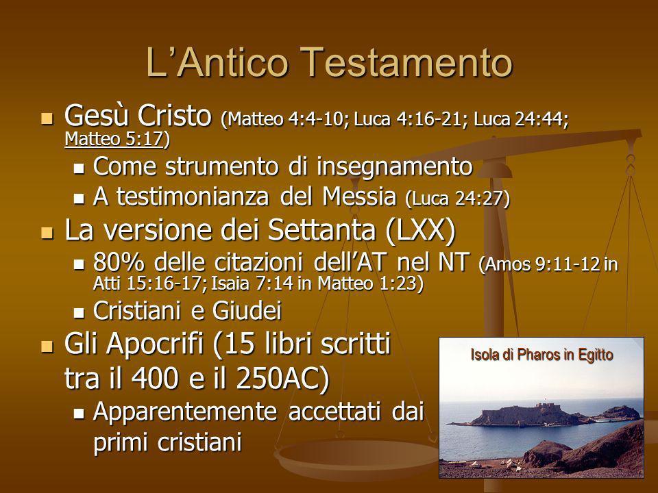 LAntico Testamento Gesù Cristo (Matteo 4:4-10; Luca 4:16-21; Luca 24:44; Matteo 5:17) Gesù Cristo (Matteo 4:4-10; Luca 4:16-21; Luca 24:44; Matteo 5:1