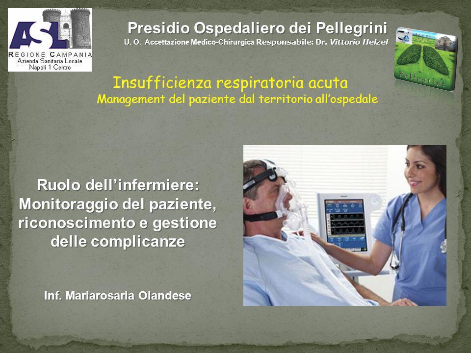 Presidio Ospedaliero dei Pellegrini U. O. Accettazione Medico-Chirurgica Responsabile: Dr. Vittorio Helzel Ruolo dellinfermiere: Monitoraggio del pazi