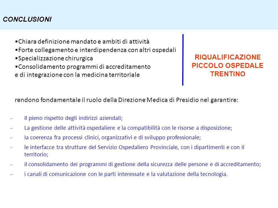 -Il pieno rispetto degli indirizzi aziendali; -La gestione delle attività ospedaliere e la compatibilità con le risorse a disposizione; -Ia coerenza f