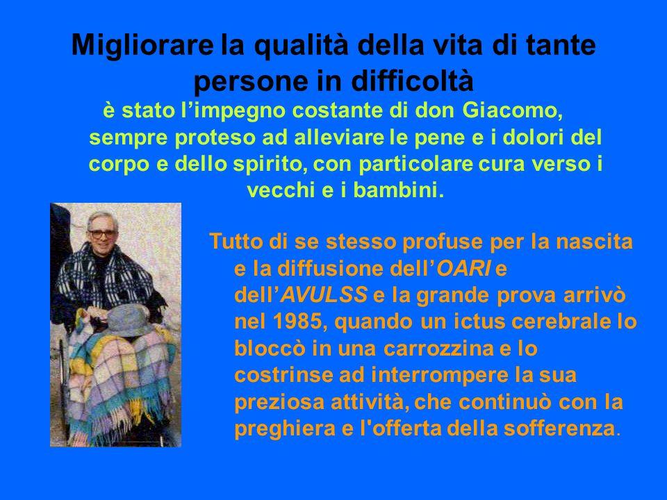 A 10 anni dalla morte di don Giacomo Luzietti vorremmo legare il suo nome ad una concreta opera di carità che anche lui, così attento ai bisogni del prossimo, avrebbe sicuramente voluto.