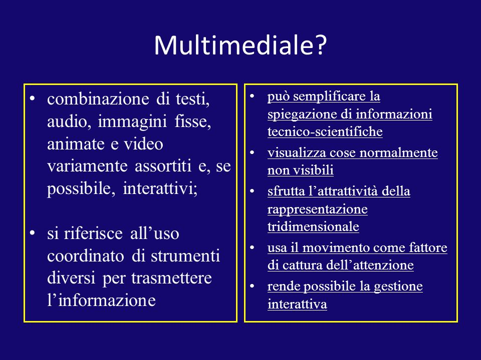 Multimediale.