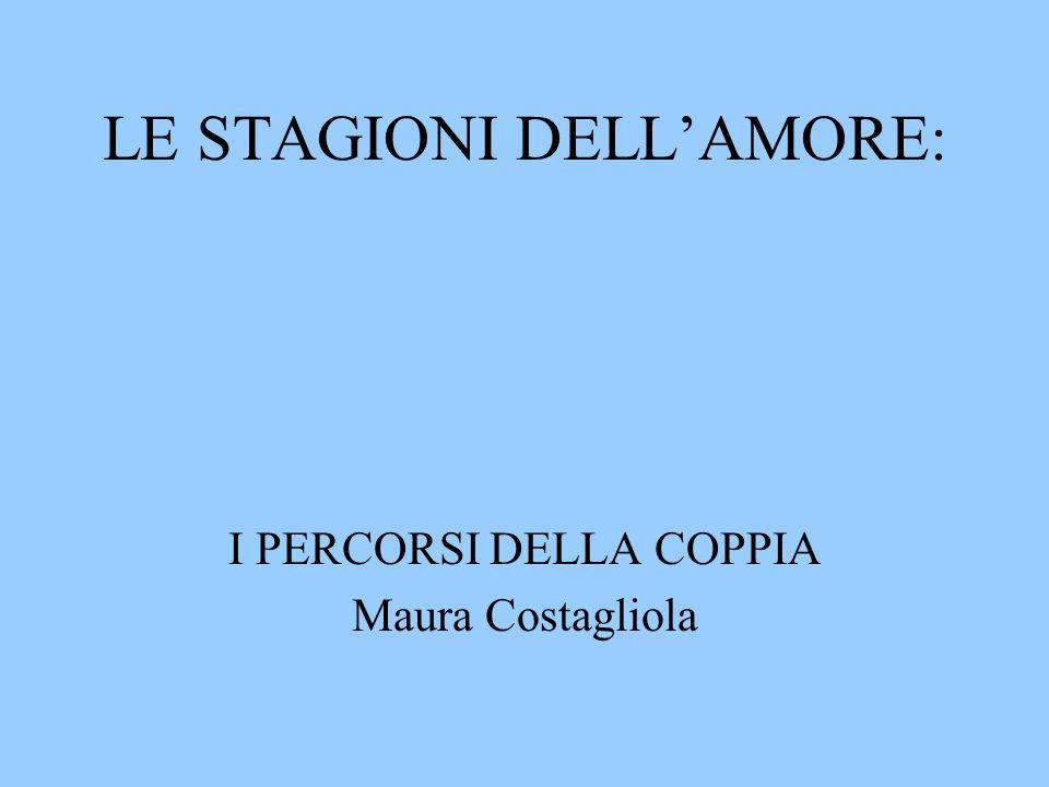 LE STAGIONI DELLAMORE: I PERCORSI DELLA COPPIA Maura Costagliola