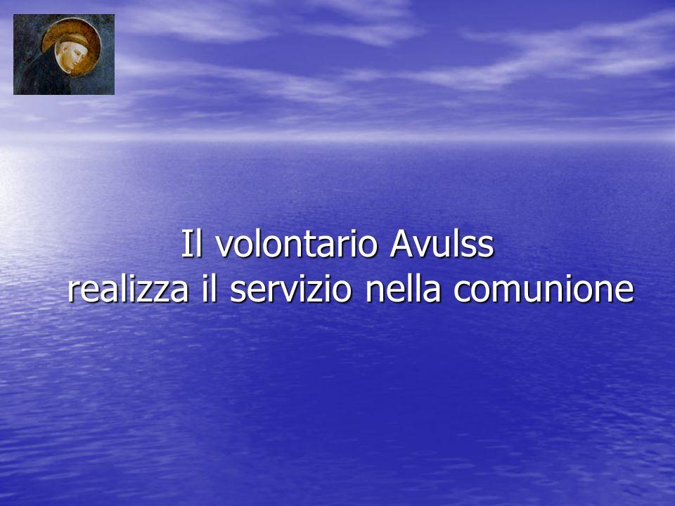 Il volontario Avulss realizza il servizio nella comunione