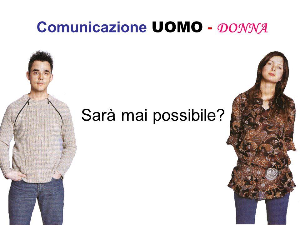 Comunicazione UOMO - DONNA Lei: Sono frustrata, certe cose o le faccio io non le fa nessuno Lui:Vuoi dire che io non lavoro.