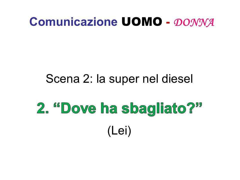 Comunicazione UOMO - DONNA Scena 2: la super nel diesel (Lei)