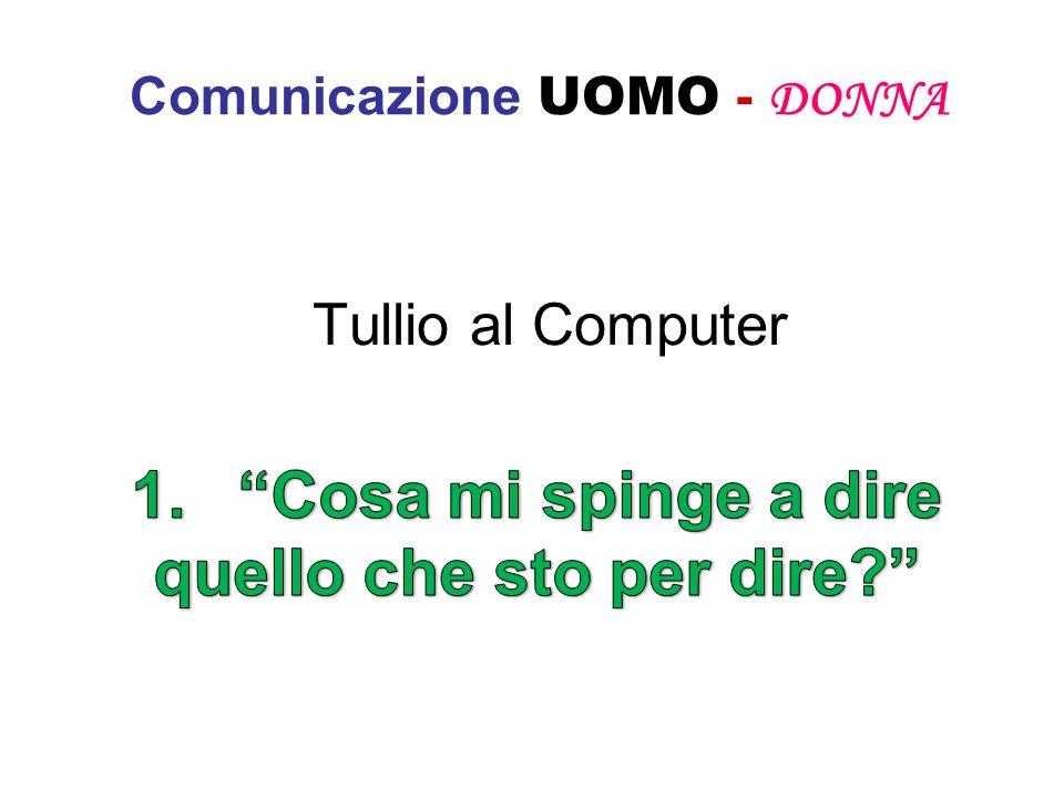 Comunicazione UOMO - DONNA Tullio al Computer