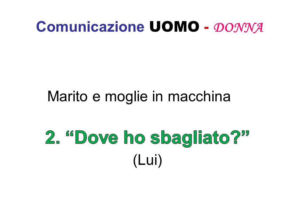 Comunicazione UOMO - DONNA Marito e moglie in macchina (Lui)
