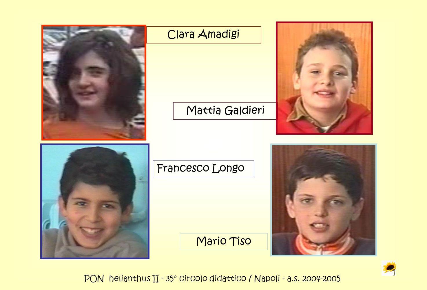 PON helianthus II - 35° circolo didattico / Napoli - a.s. 2004-2005 Clara Amadigi Mattia Galdieri Francesco Longo Mario Tiso