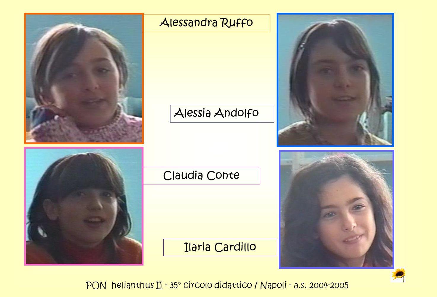 PON helianthus II - 35° circolo didattico / Napoli - a.s. 2004-2005 Alessandra Ruffo Alessia Andolfo Claudia Conte Ilaria Cardillo