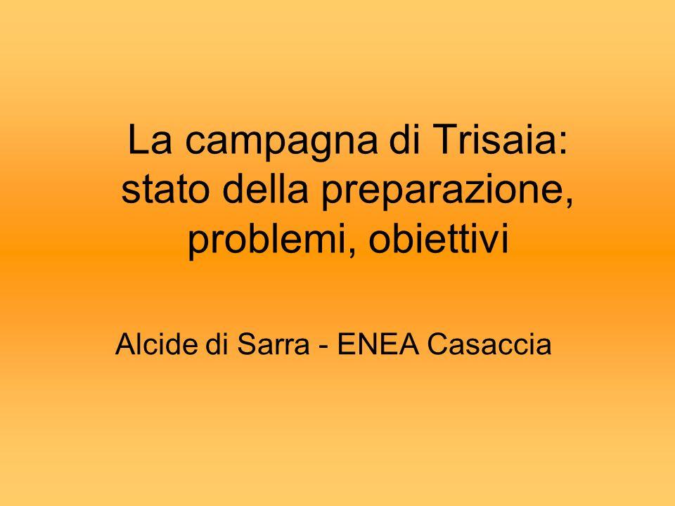 La campagna di Trisaia: stato della preparazione, problemi, obiettivi Alcide di Sarra - ENEA Casaccia