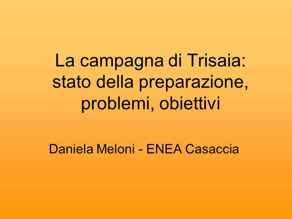 La campagna di Trisaia: stato della preparazione, problemi, obiettivi Daniela Meloni - ENEA Casaccia