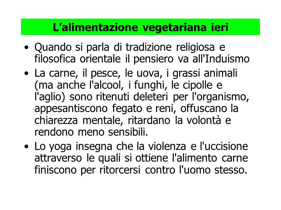 Lalimentazione vegetariana ieri Quando si parla di tradizione religiosa e filosofica orientale il pensiero va all'Induismo La carne, il pesce, le uova