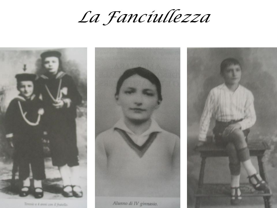 LA FANCIULLEZZA Nasce a Bellagio (CO) nel 1916.