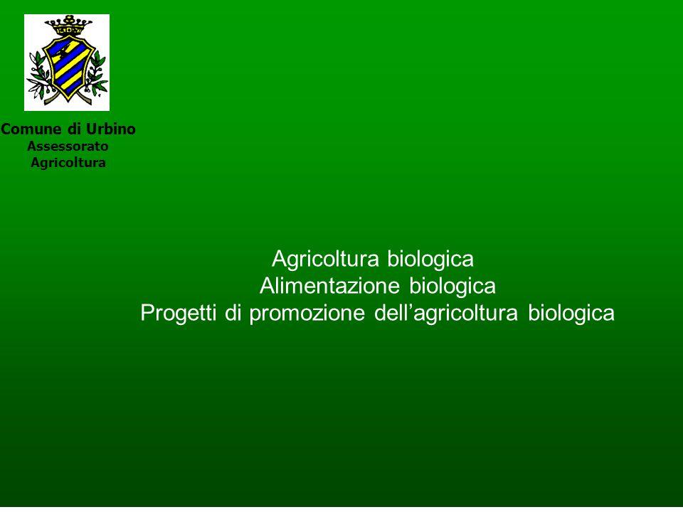 Comune di Urbino Assessorato Agricoltura Agricoltura biologica Alimentazione biologica Progetti di promozione dellagricoltura biologica