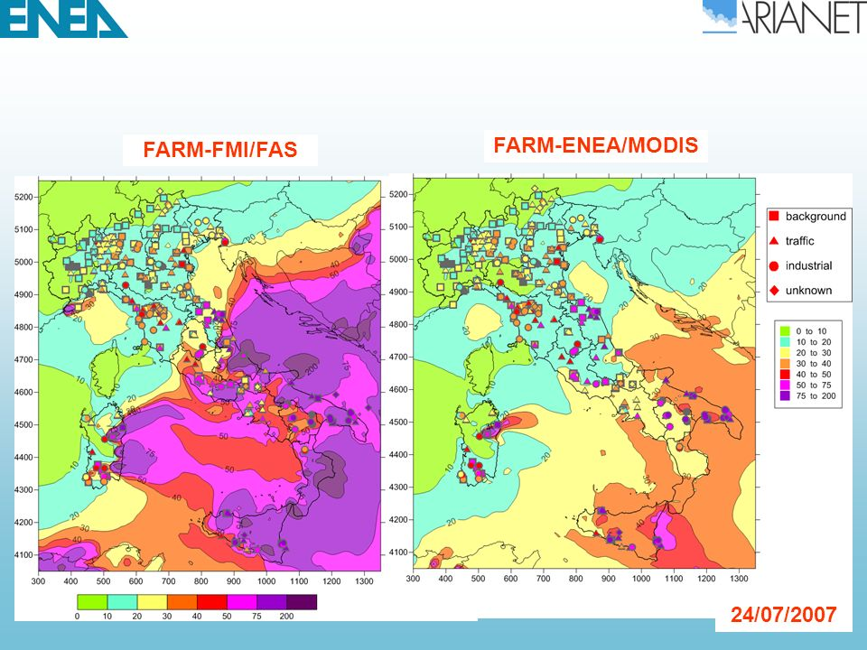 FARM-ENEA/MODIS SILAM-ENEA/MODIS