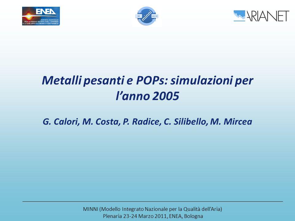 Metalli pesanti e POPs: simulazioni per lanno 2005 G.
