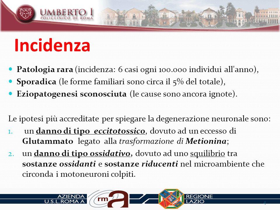 Contesto Popolazione Comune di ROMA: 2.752.790 Popolazione ASL RM A: 485.239 n.