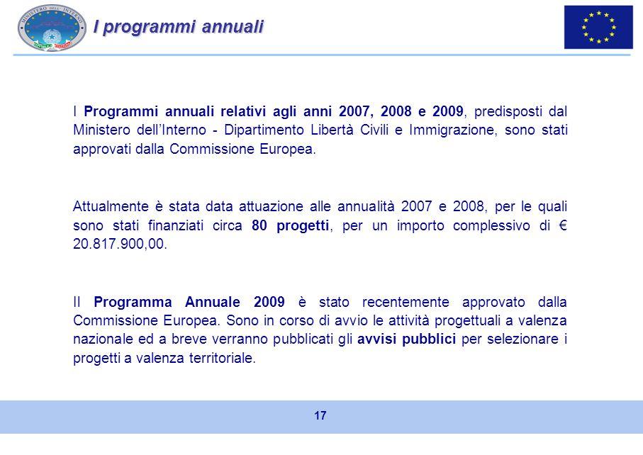 progetti a valenza nazionale: sono attuati direttamente dalle Amministrazioni centrali su tematiche di propria specifica competenza, al fine di realiz