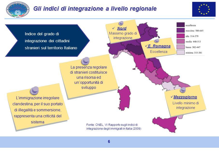In Italia limmigrazione rappresenta un fenomeno ormai strutturale e consolidato. I cittadini stranieri rappresentano complessivamente il 6,5% della po