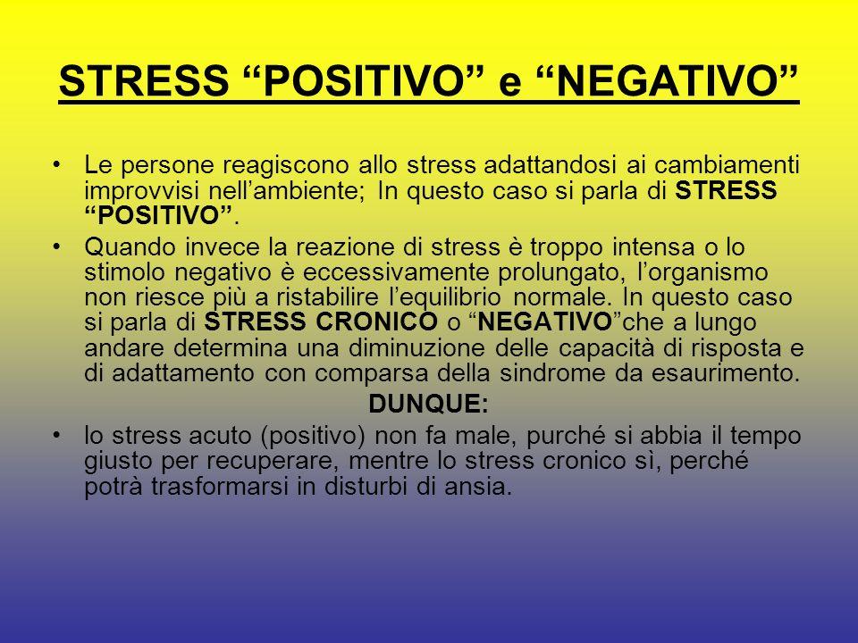 LO STRESS Lo stress è una complessa reazione di risposta di tutto lorganismo (psico-fisico- emotivo) come risposta di adattamento a situazioni, avveni