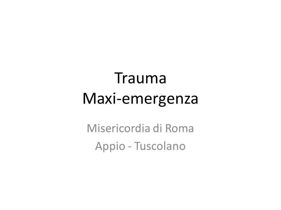 Trauma Maxi-emergenza Misericordia di Roma Appio - Tuscolano