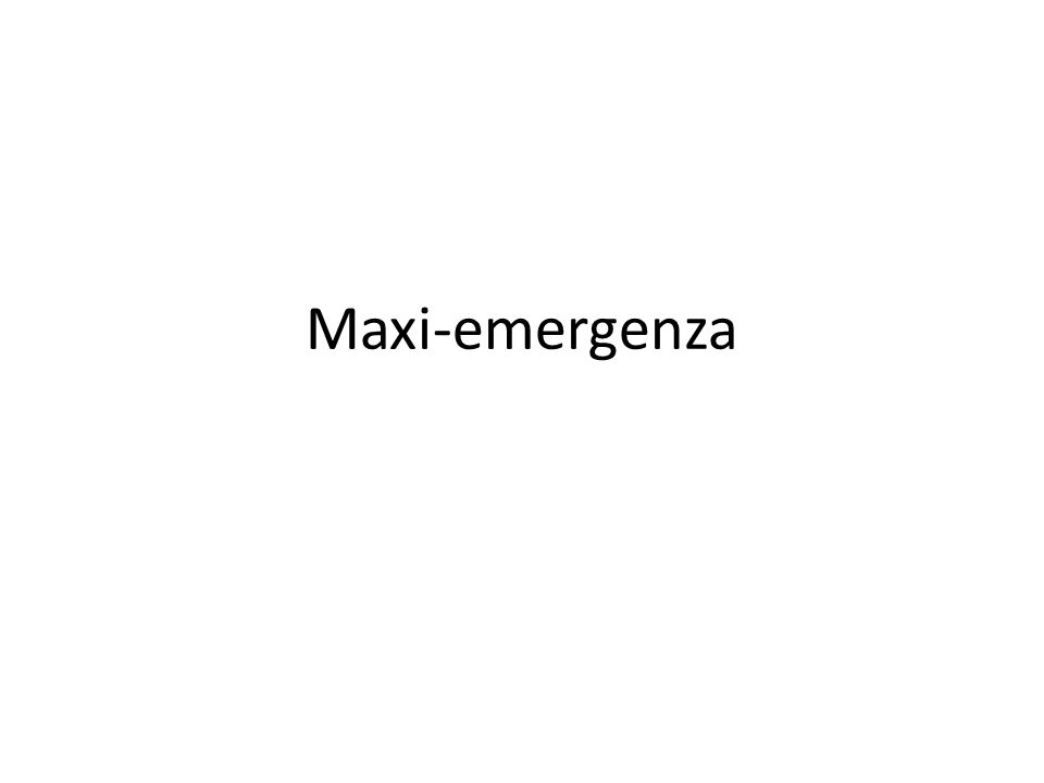 Maxi-emergenza