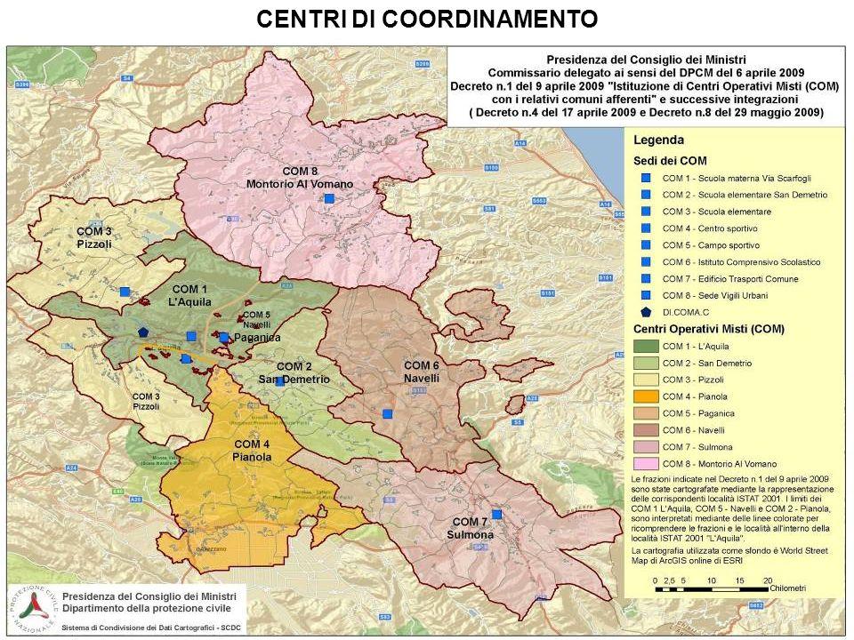 CENTRI DI COORDINAMENTO Paganica
