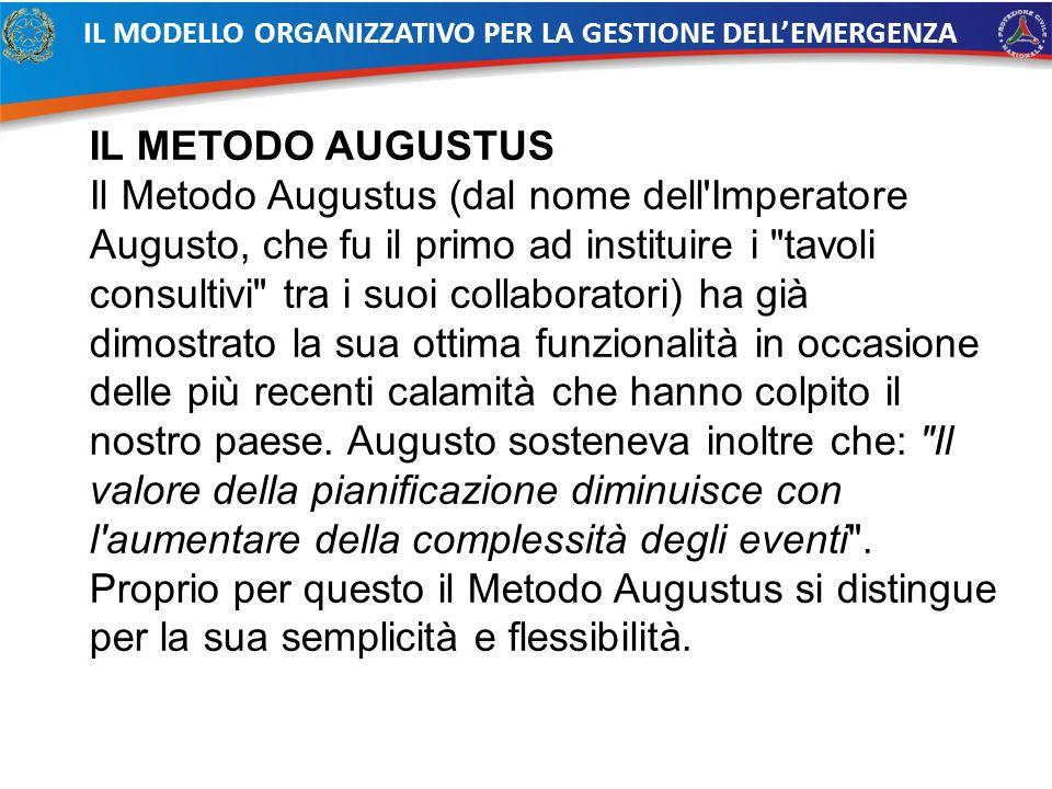 IL METODO AUGUSTUS Il Metodo Augustus (dal nome dell'Imperatore Augusto, che fu il primo ad instituire i