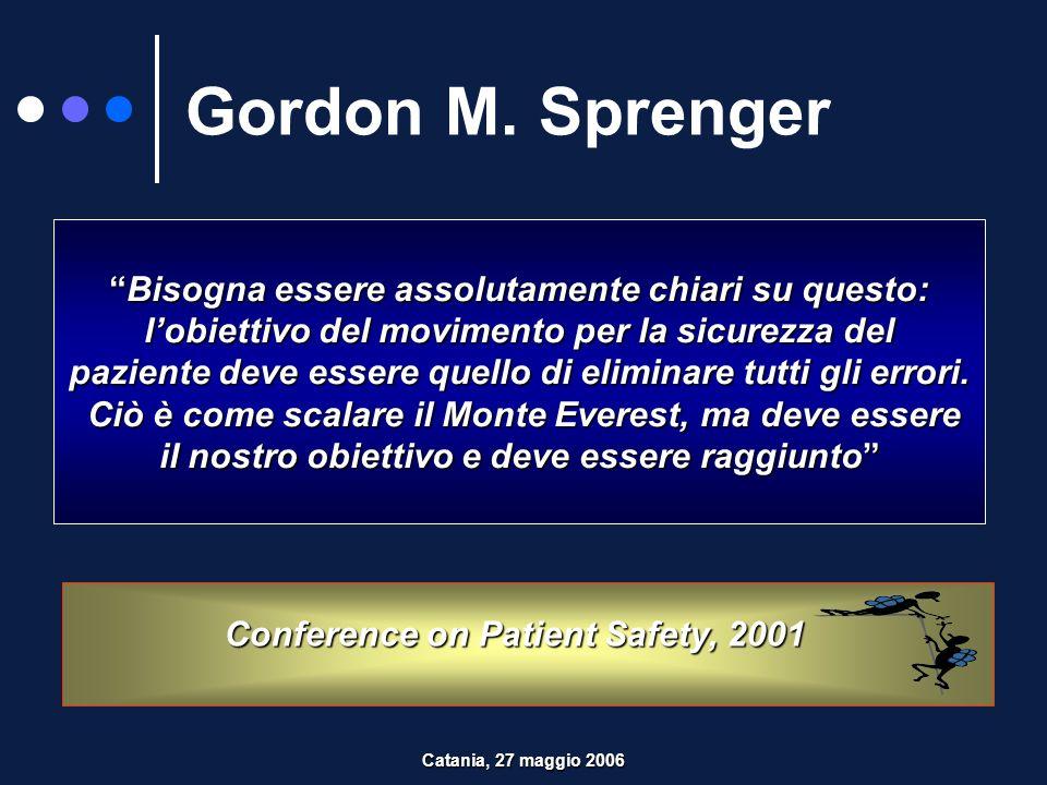 SPOSTARE LA FOCALIZZAZIONE DALLA RESPONSABILITA INDIVIDUALE ALLA RICERCA DELLE CAUSE Errore Catania, 27 maggio 2006