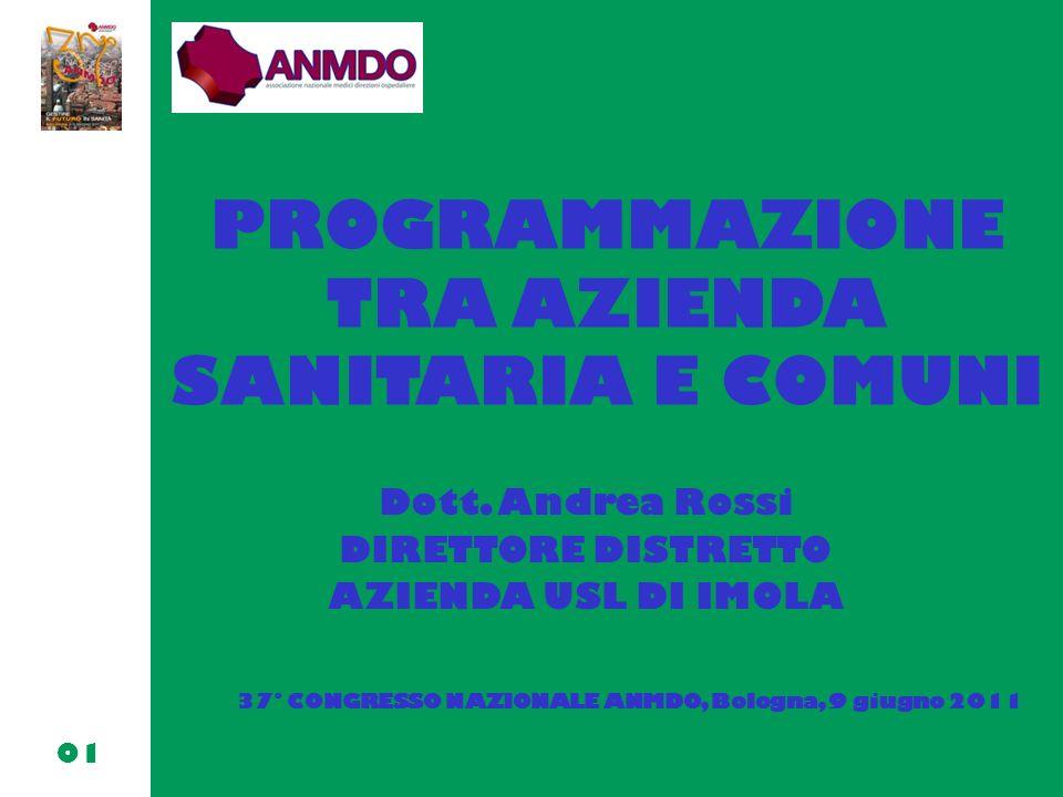 PROGRAMMAZIONE TRA AZIENDA SANITARIA E COMUNI Dott.