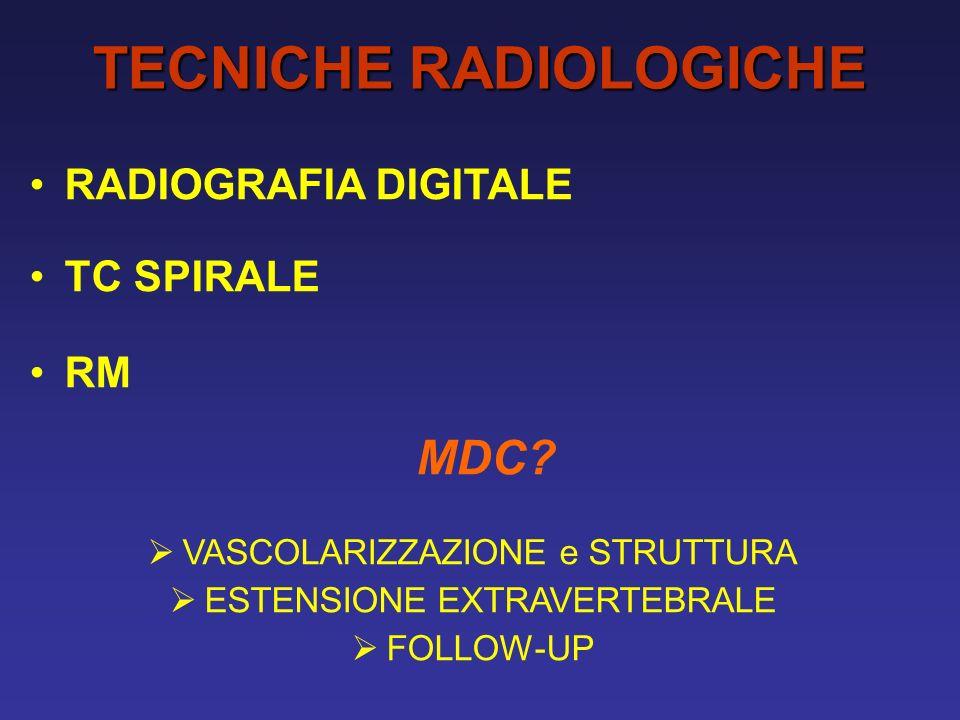 TECNICHE RADIOLOGICHE RADIOGRAFIA DIGITALE TC SPIRALE RM MDC.