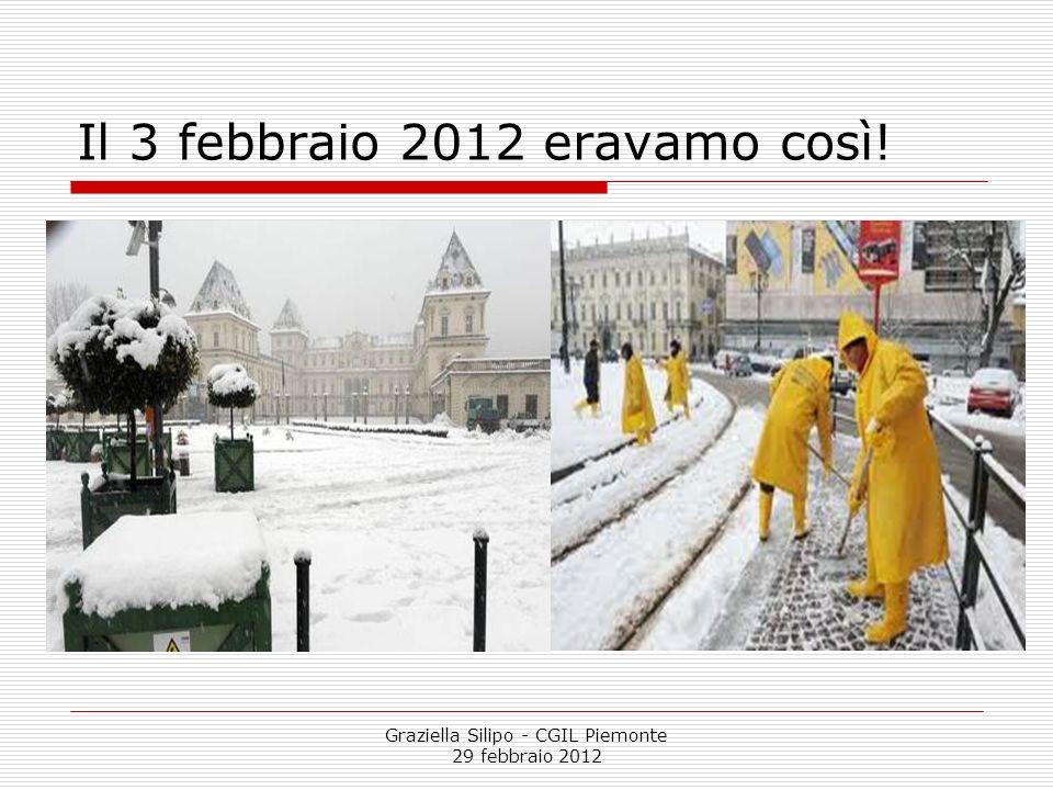 Graziella Silipo - CGIL Piemonte 29 febbraio 2012 La situazione occupazionale in Piemonte Il tasso di occupazione maschile nel 2010 scende dal 72,3% del 2009 al 71,3% (penultimo posto tra le regioni del Nord, che ha una media del 73,9%).