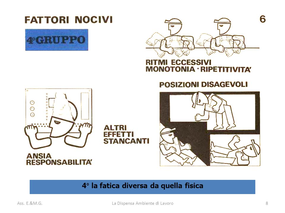 Ass. E.&M.G.La Dispensa Ambiente di Lavoro8 4° la fatica diversa da quella fisica