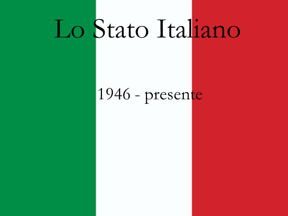 LItalia è diventata una Repubblica democratica il 2 giugno 1946 dopo il crollo della dittatura fascista nel 1945